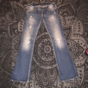 Silver Jeans Jeans - Silver Tuesday Jeans destroyed women's 27x31
